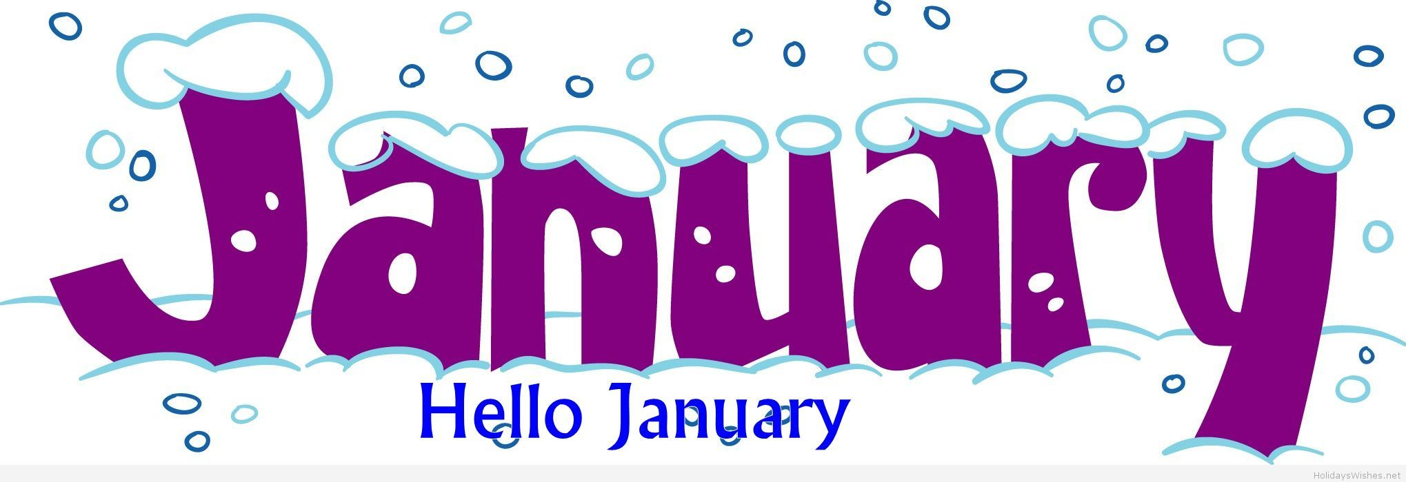 Hello January cover fb Hello january, January clipart