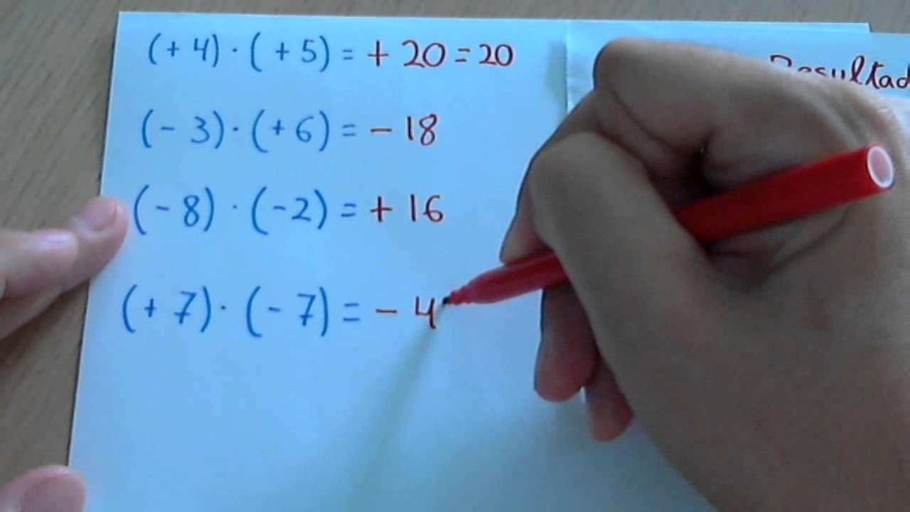 Multiplicar Y Dividir Números Enteros Positivos Y Negativos Regla De Si Positivo Y Negativo Numeros Enteros Positivos Positivo