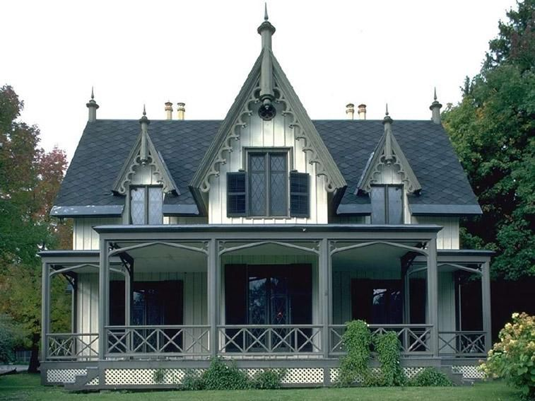 Dutch Colonial Bargeboard Google Search Gothic House American Gothic House Victorian Homes