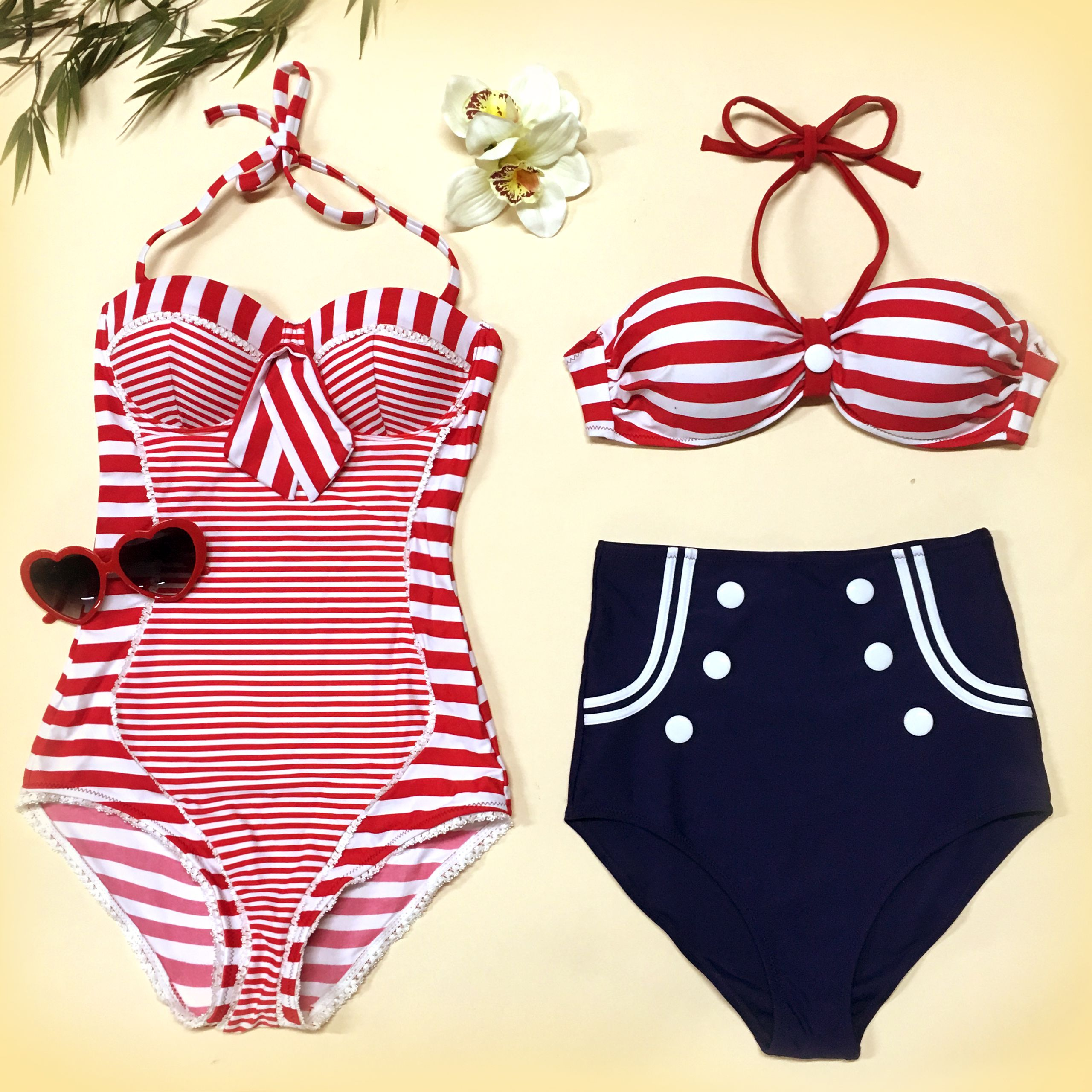 8620ae869a Many Marine will twist their necks when you stroll along with this swimwear  by Bellissima!