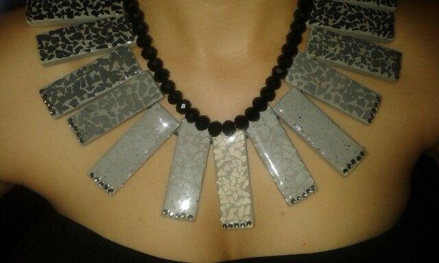 Collar artesanal para mi proyecto de ecodiseño #Happy #MadeIt