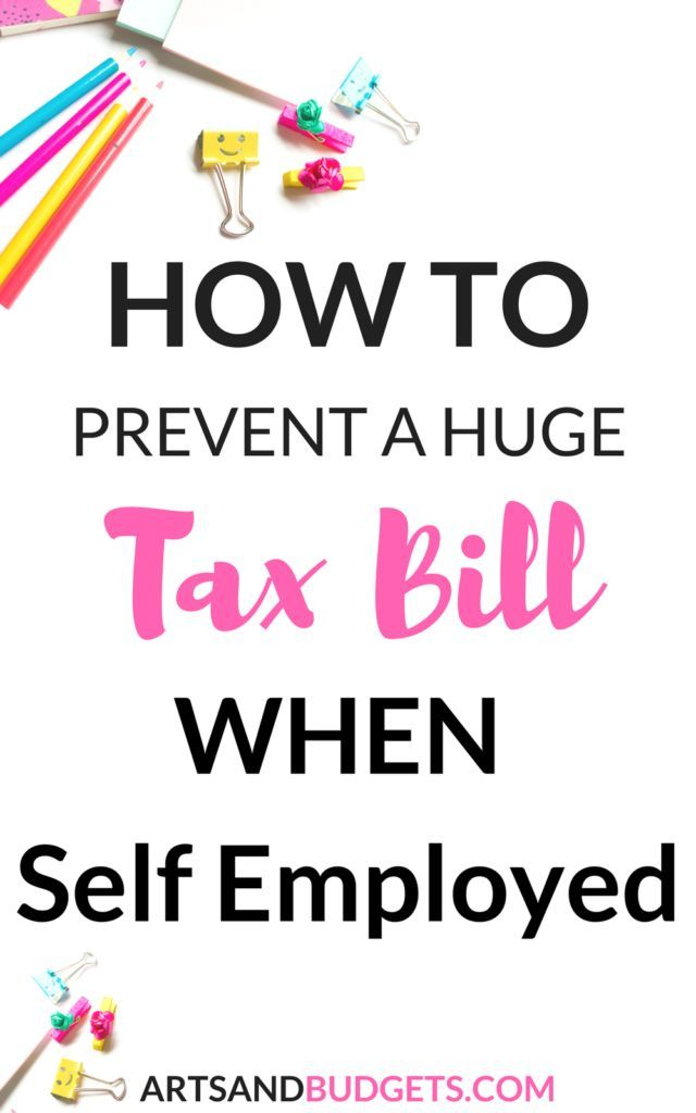 How To Prevent A Big Tax Bill While Being Self-Employed Tax - business profit and loss statement for self employed