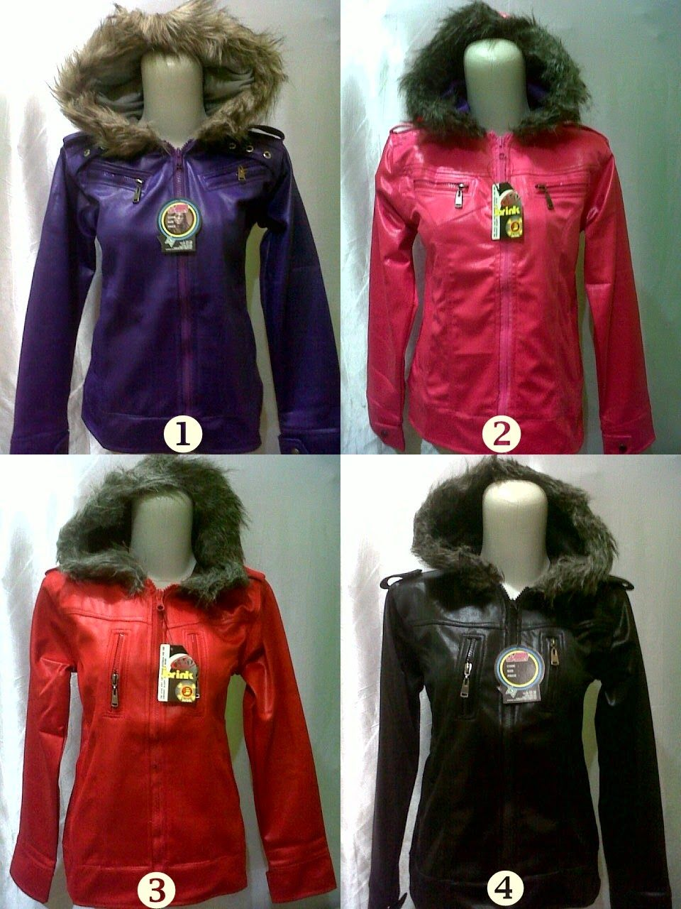 Jaket Metalik Bulu Wanita Wanita, Jaket, Jaket bomber