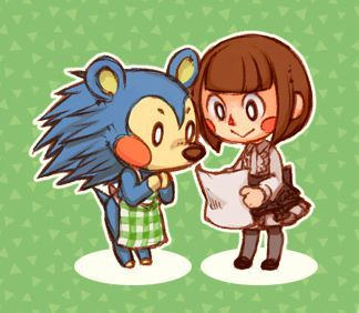Mable And A Villager Girl Animal Crossing Fan Art Character Drawing Animal Crossing