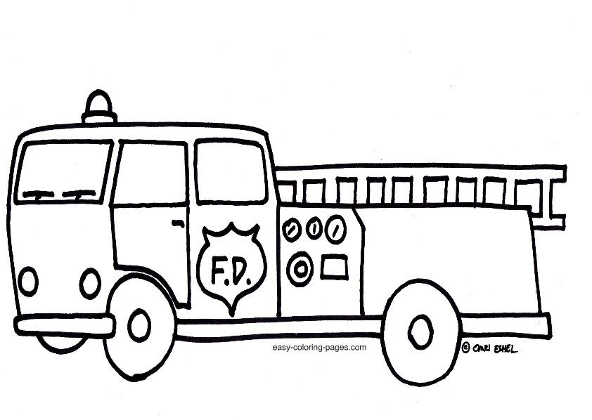 Download Fire Truck Coloring Pages Monster Truck Coloring Pages