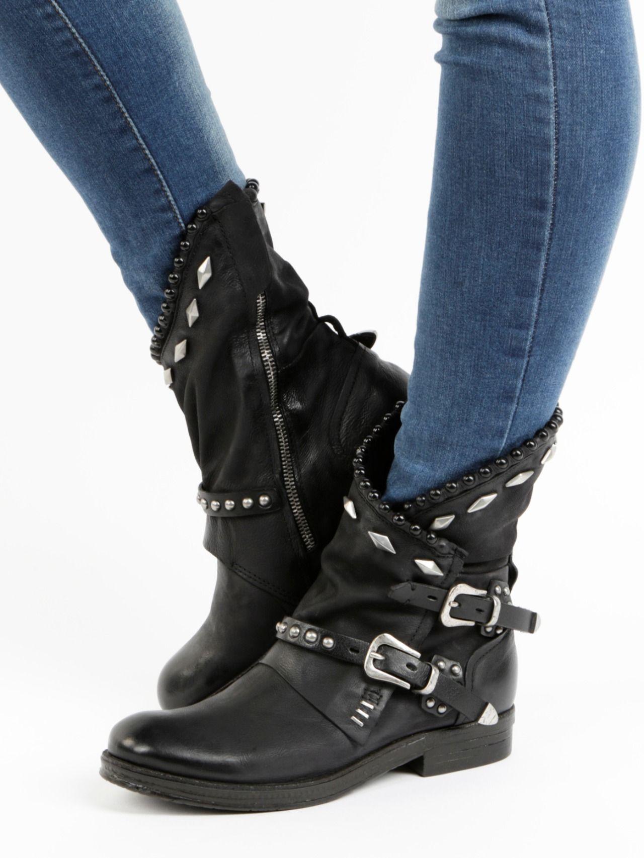 Damen Stiefeletten Biker Boots Gefütterte Booties 832164 Trendy Neu