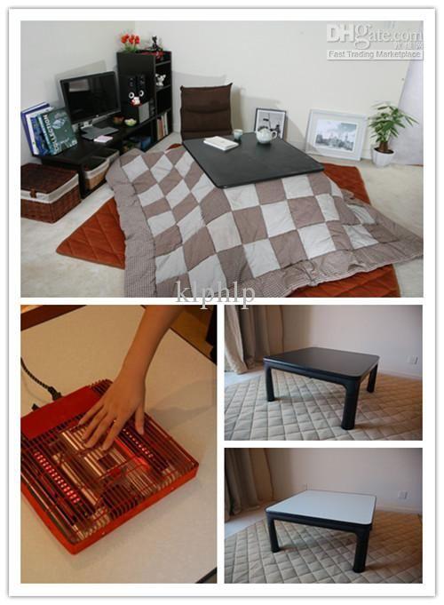 (4pcs/set)FUJI Kotatsu Set Table Futon Heater Asian Furniture Living Room  Coffee Table 75cm Low Foot Warmer Japanese Heated Floor Table