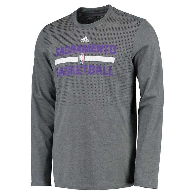 Sacramento Kings adidas On-Court climacool Aeroknit Long Sleeve T-Shirt -  Gray 2d2a7abda
