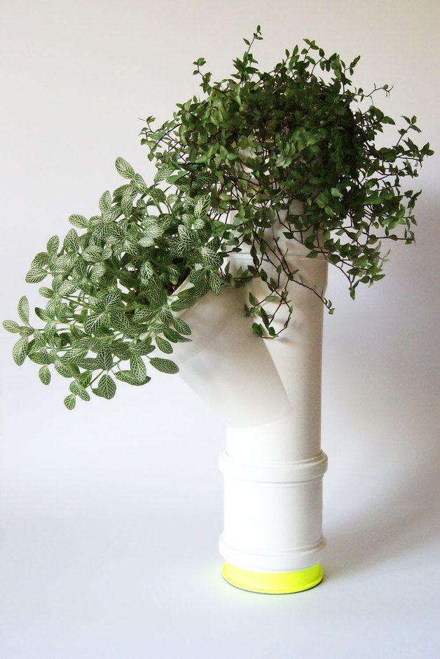 Skina Blumentopf Upcycling Blumenstander Pvc Pflanzen Rohre Topfblumen
