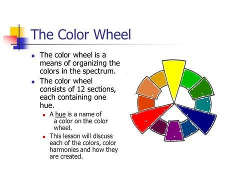 The Color Wheel The Color Wheel Is A Means Of Organizing The Colors