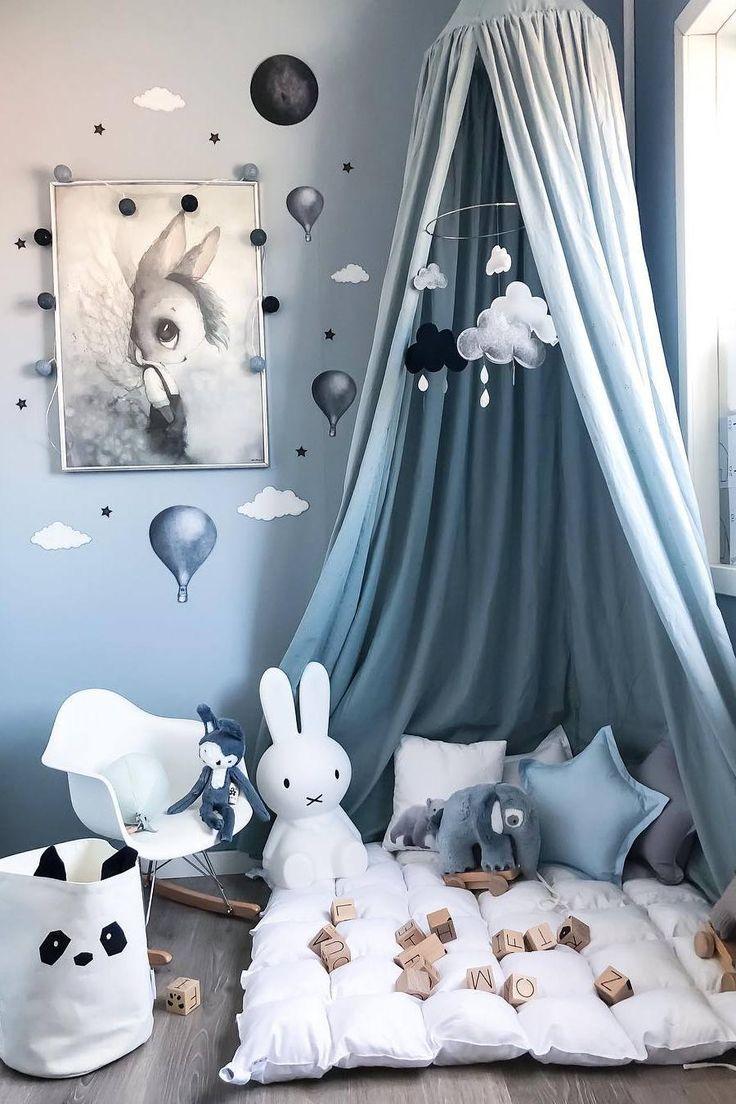 Sternenkissen (schwarz, weiß, grau, blau, gelb), Sternenkissen, Kinderzimmer Sternenkissen, K... #toddlerrooms