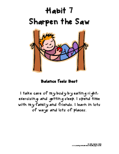 Sharpen the Saw | Morning Messages | Pinterest | School, Student ...