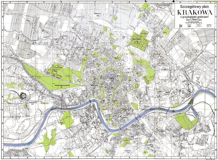 Przypadki Adama S Stare Mapy Krakowa I Okolic Krakow Krakow