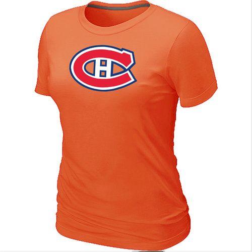 NHL Montreal Canadiens Big & Tall Women's Logo T-Shirt - Orange [Montreal Canadiens T Shirts 031] - $12.95 : Cheap Hockey Jerseys