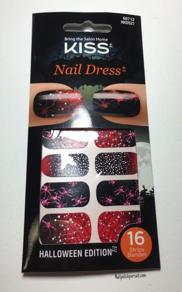kiss nail dress spiders nail strips nailpolishpursuitcom