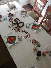 Herbstliche Tischdeko für den 50.Geburtstag #herbstlichetischdeko Herbstliche T... #herbstlichetischdeko
