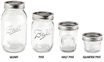 Clear Ball Mason Jar Canning Jar Quarter Pint By Cobblestonegarden