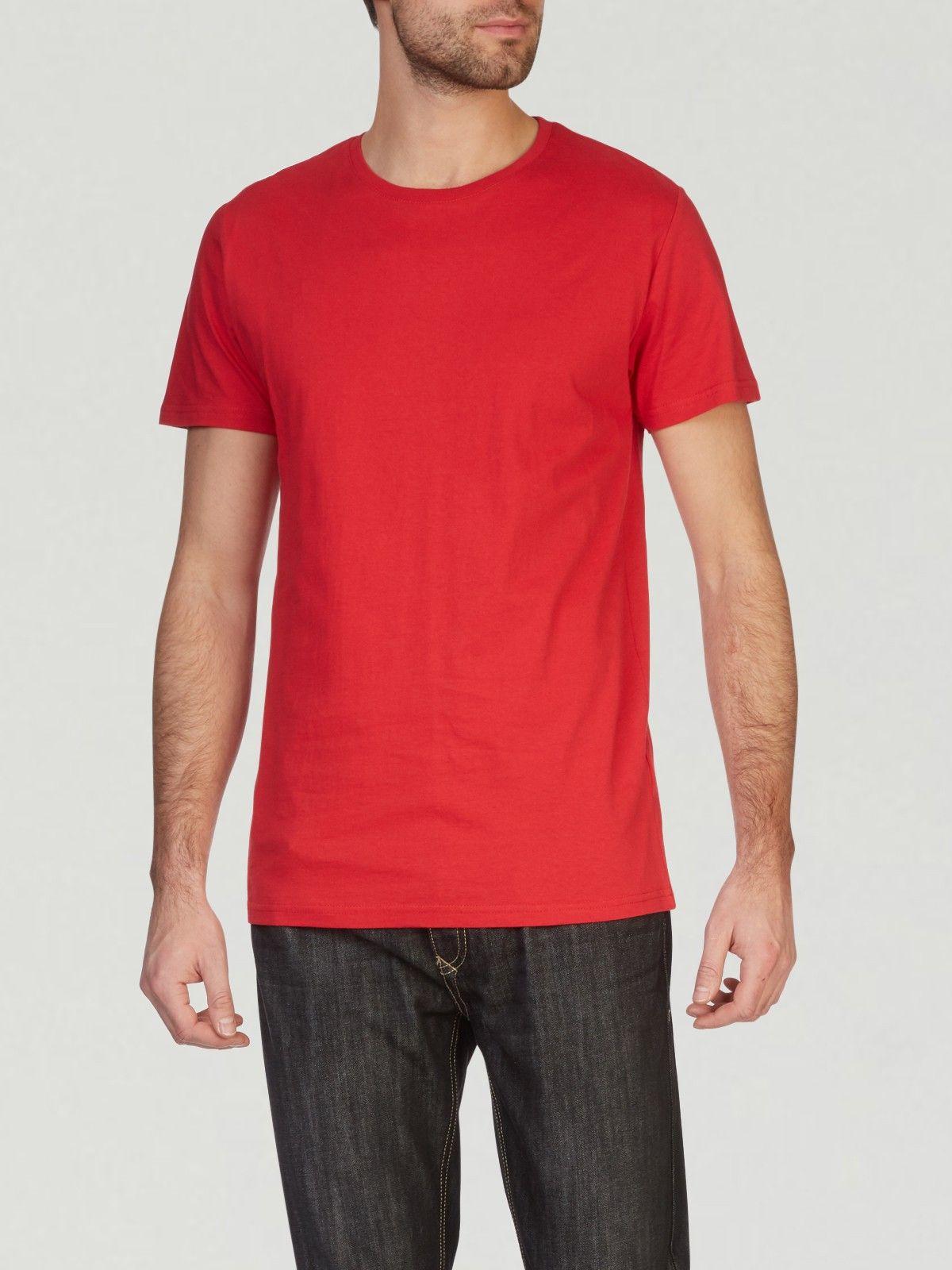86f23915443 T-shirt coton uni coupe droite Rouge – T-shirt pour homme – LH – Uni ...
