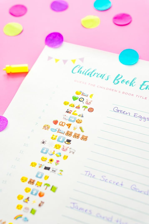 Emoji Pictionary Baby Shower Game Free Printable   Free ...