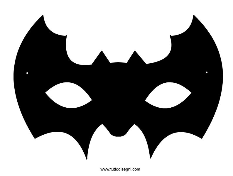 Maschera pipistrello da ritagliare halloween pinterest for Maschere stampabili