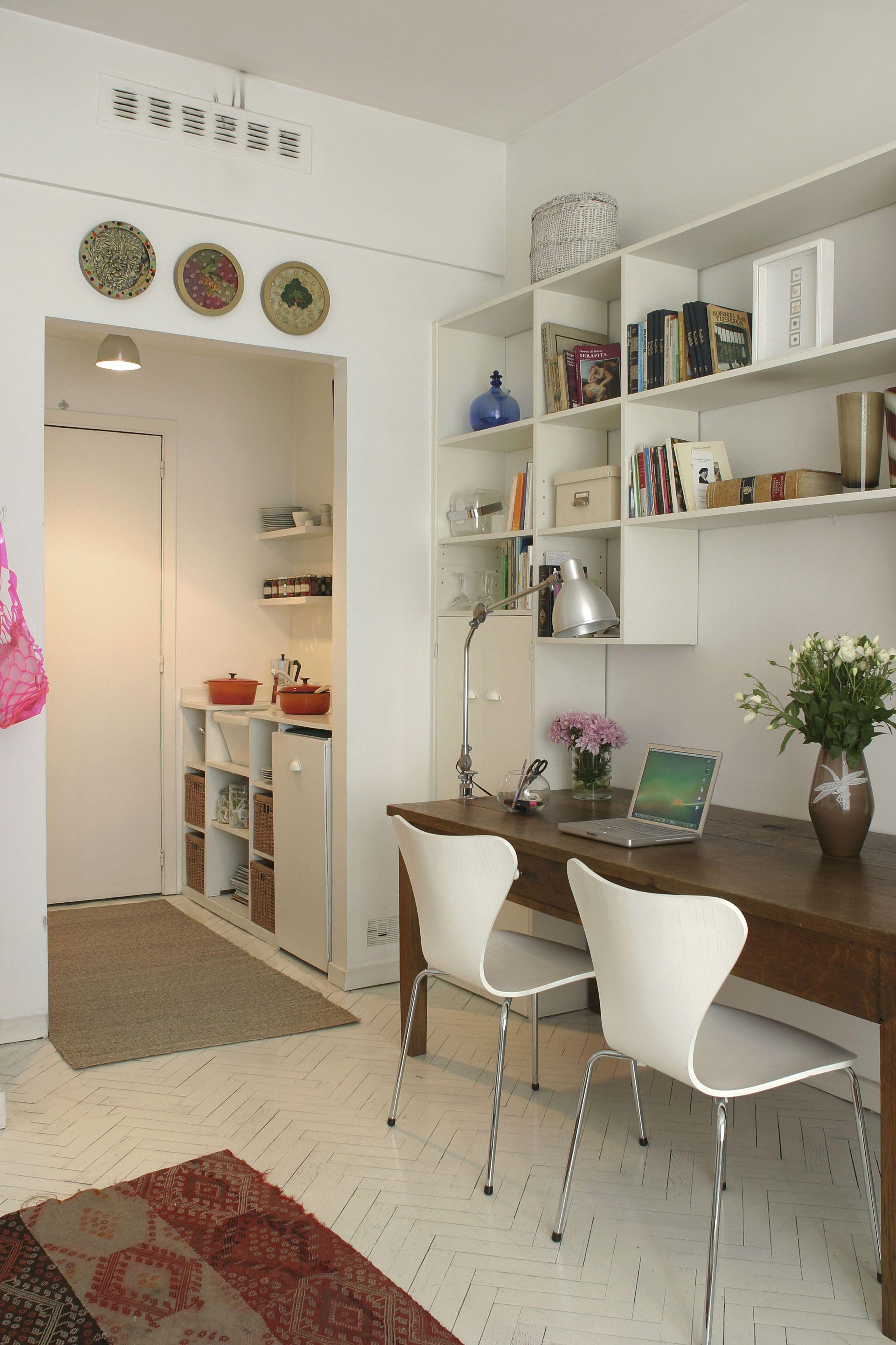 Kleines Wohnzimmer Mit Arbeitsplatz Wohnung Einrichten Zimmer