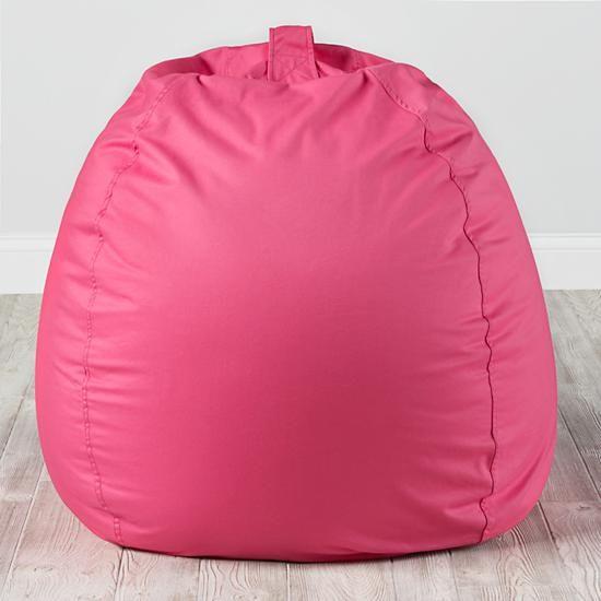 Prime 40 Ginormous Bean Bag Chair Dk Pink The Land Of Nod Beatyapartments Chair Design Images Beatyapartmentscom