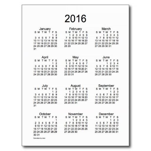 52 Weeks 2017 Mini Calendar by Janz Postcard | Calendars by Janz ...