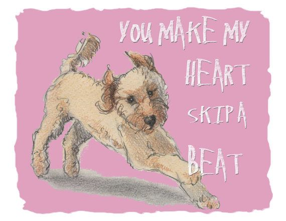 Doodle Valentine Card by canadaonce on Etsy