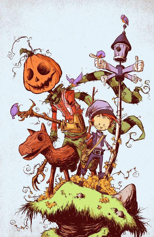 Land Of Oz 1 Cover Comic Books Art Skottie Young Book Art