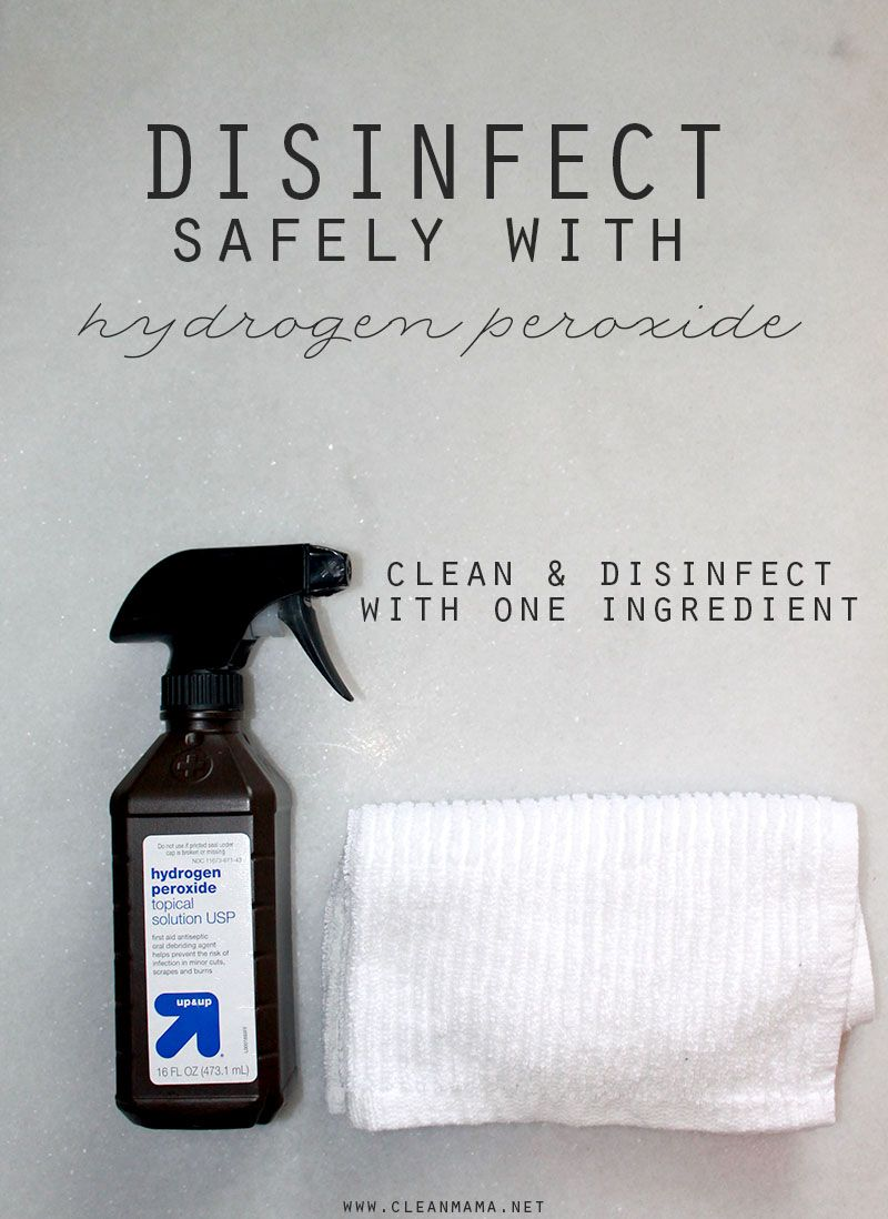 Quick Tip Disinfect with Hydrogen Peroxide Cleaning