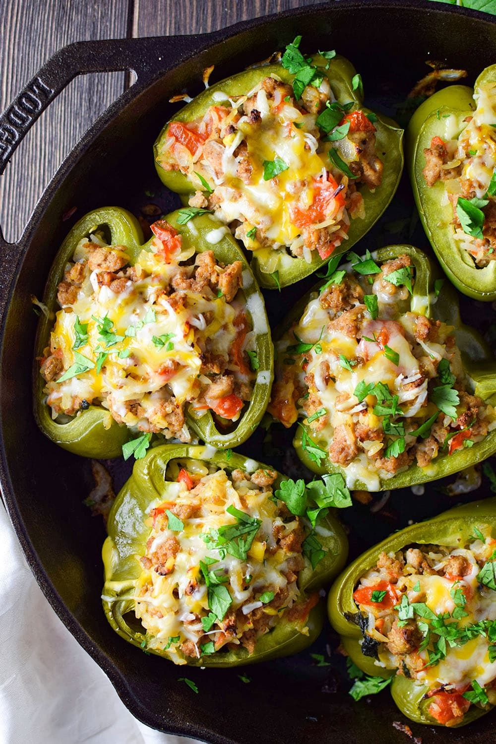 Ground Turkey Stuffed Peppers Recipe Recipe In 2020 Stuffed Peppers Ground Turkey Stuffed Peppers Peppers Recipes
