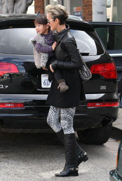 b64742751fc Laeticia Hallyday Photos Photos - Actress Laeticia Hallyday and her  daughter Joy spotted out and about in West Hollywood