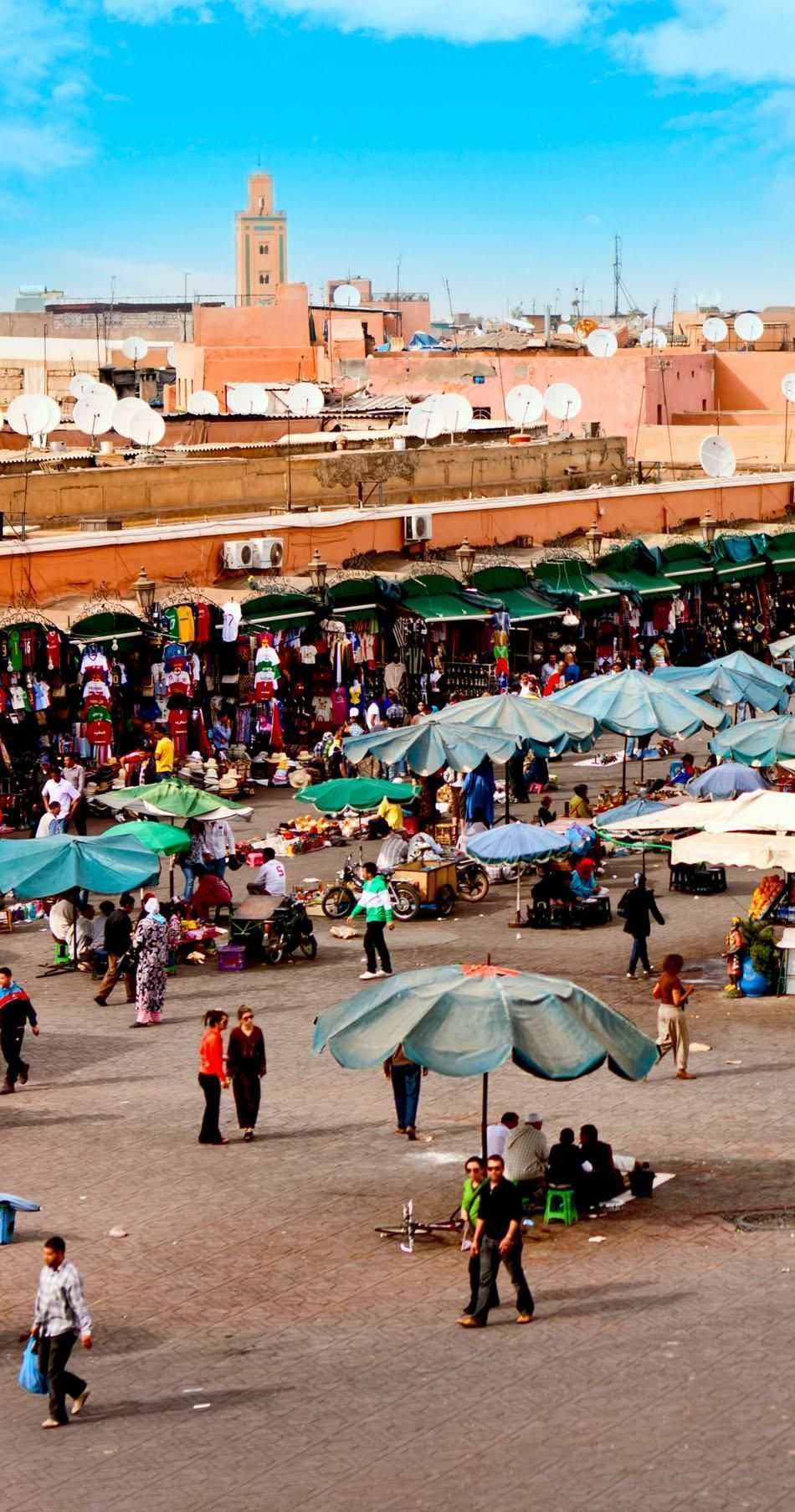 Djemaa el Fna - square and market place in Marrakesh's medina quarter, Marrakesh, Morocco | 20 Photos that Prove Morocco is a Dream Destination