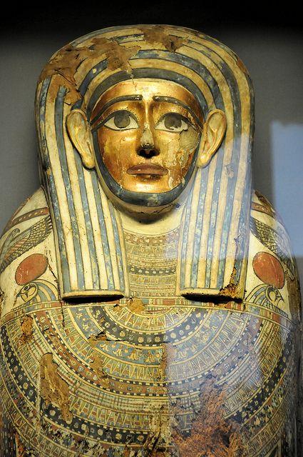 Kunsthistorisches Museum - Egyptian Mummy Coffin in Vienna Austria