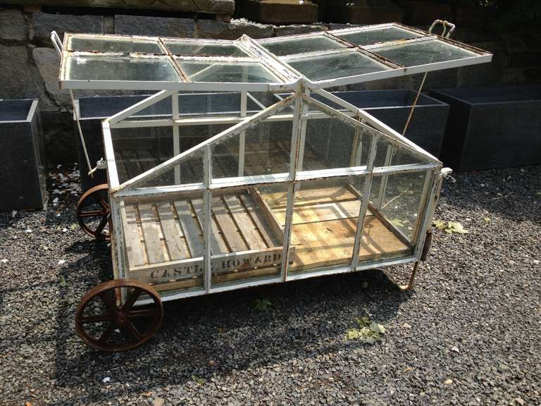 Edwardian Style Portable Greenhouse Cart