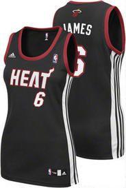 hot sale online 5d245 0efba LeBron James Womens Jersey: adidas Black Replica #6 NBA ...