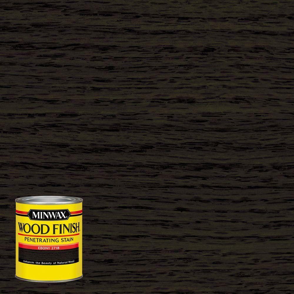 Minwax 8 Oz Wood Finish Ebony Oil Based Interior Stain 227184444