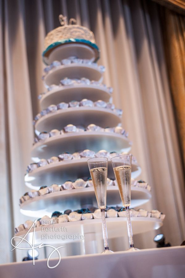 Gorgeous 7 Tiered Display For A Wedding Cakeballs Weddings - Wedding Cakes Dallas