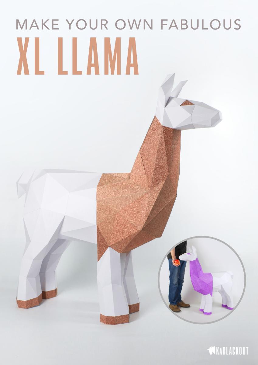Xl Llama Papercraft Template Pdf Printable Llama Pattern Diy Etsy In 2020 Papercraft Templates Paper Crafts Paper Crafts Origami