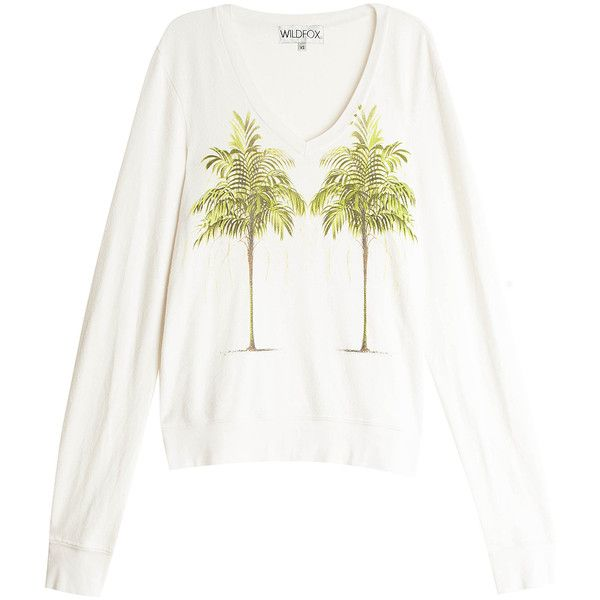 WILDFOX Palm Sweater (73 AUD) ❤ liked on Polyvore