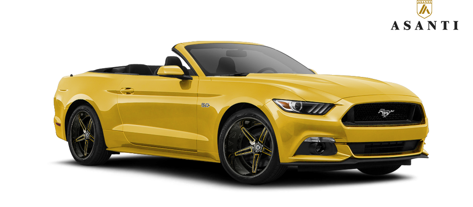 2016 Ford Mustang Gt On 19 Quot Asanti Wheels Cx506 Yellow Ford Mustang Gt Mustang Ford Mustang