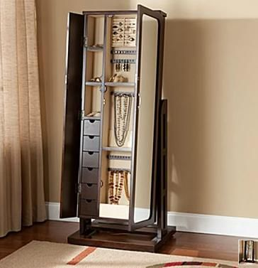 19++ Jewelry armoire with mirror and lock ideas in 2021