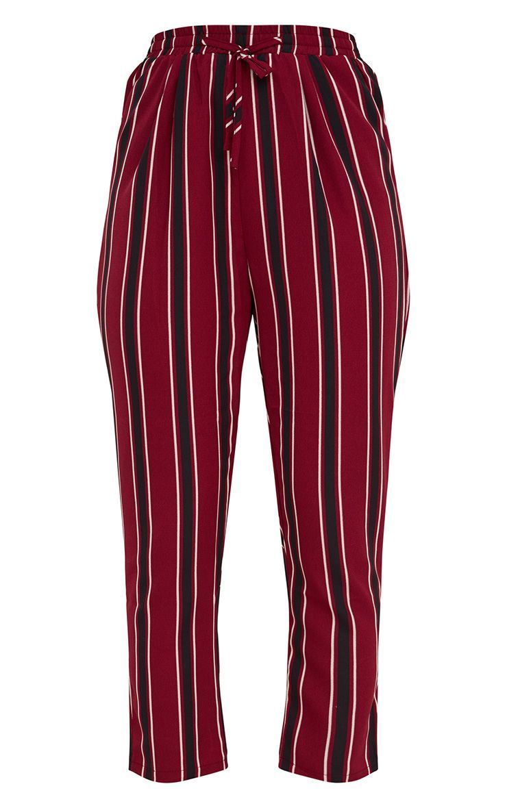 eed162d56458ee Burgundy Multi Stripe Casual Trousers | Clothes Wishlist | Trousers ...