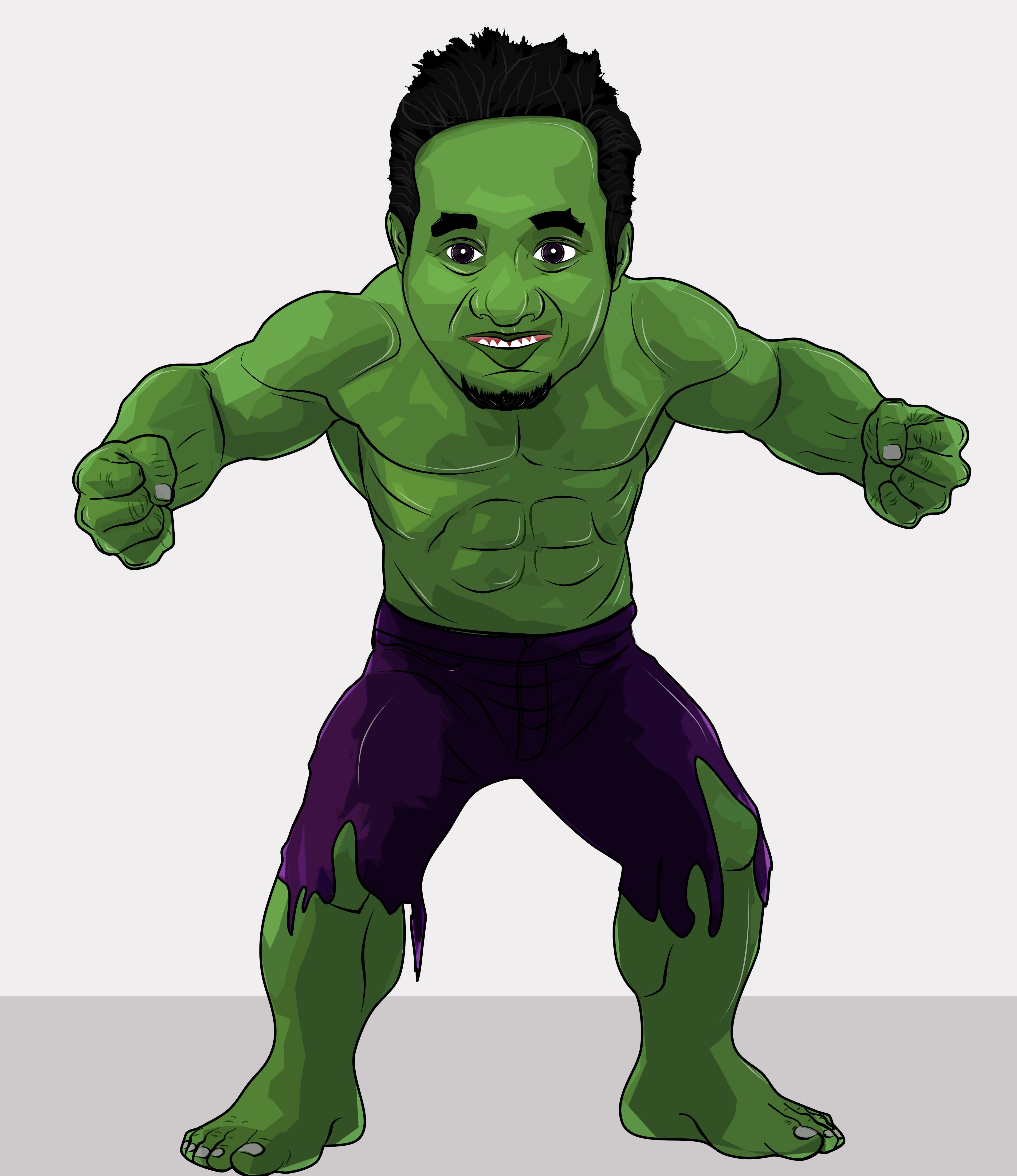 incredible HULK #marvel #cartoon #funny #vector #photoshop ...
