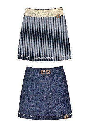 Nähanleitung und Schnittmuster: Rock ruckzuck Gr. 36 - 44/46 #clothpatterns