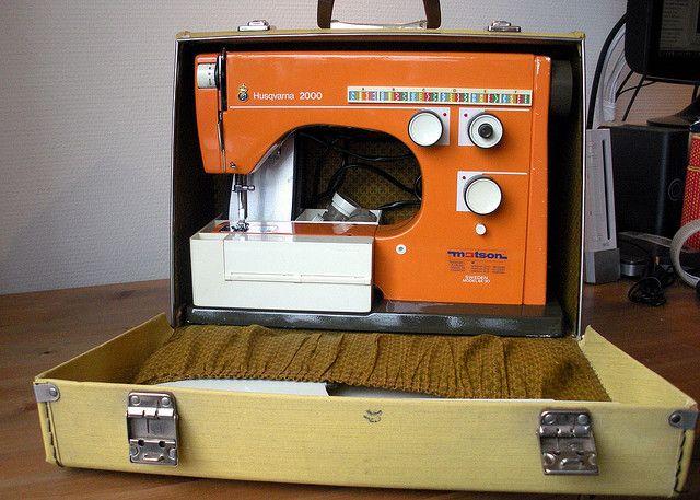 Orange Husqvarna Viking 40 Sewing Machine Love Love Love This Interesting Viking Sewing Machine Models
