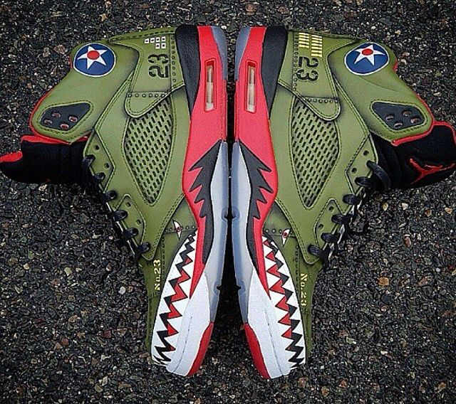 quality design 7e53b 6b630 Nike Air Jordan V P90 Warhawk Custom