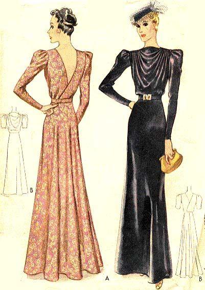 McCall 3006   1939 evening dress