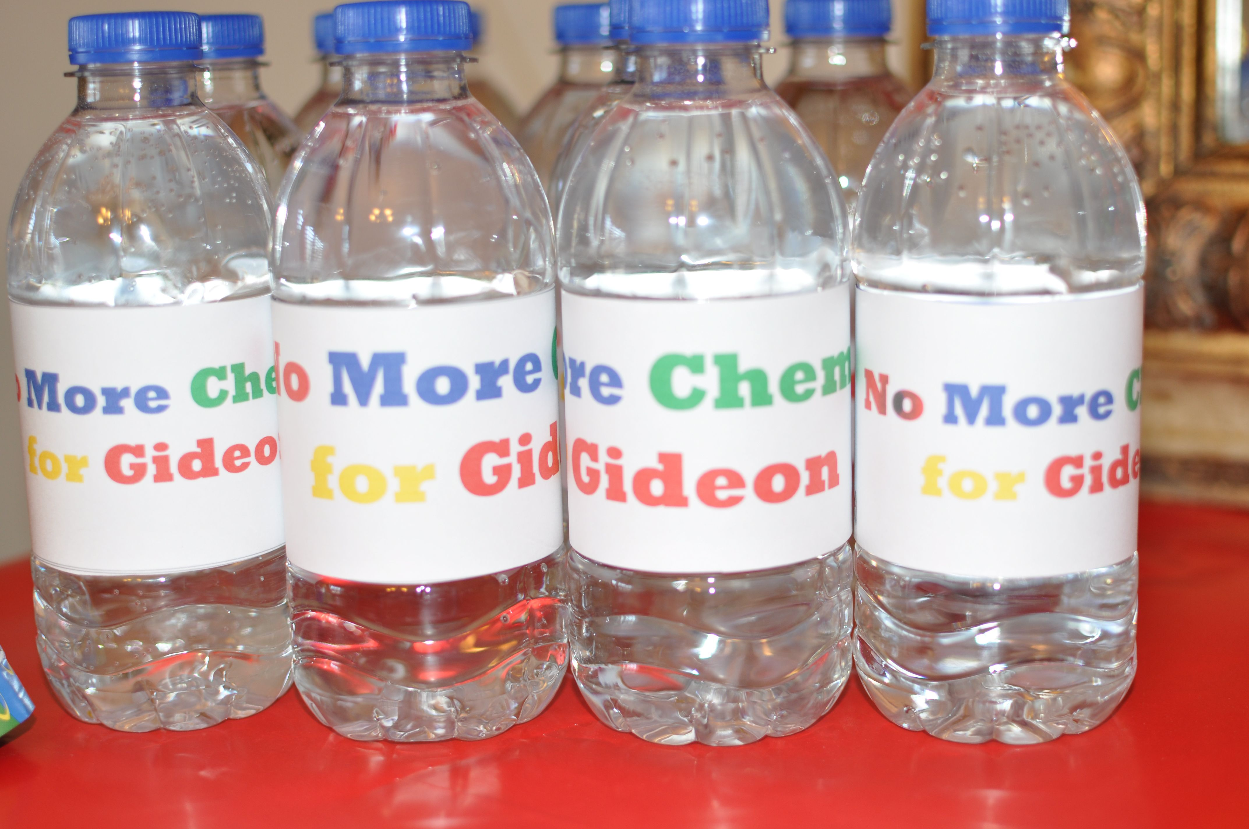 Create your own water bottle labels to match the party