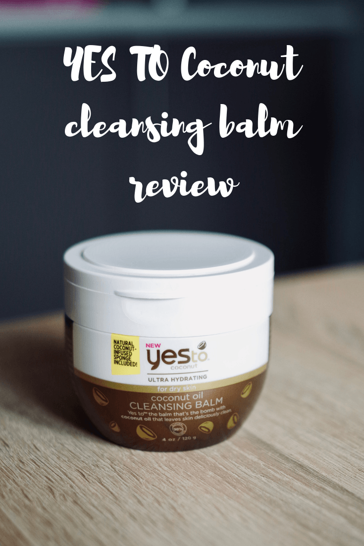 REVIEW YES TO Coconut Oil Cleansing Balm. The perfect